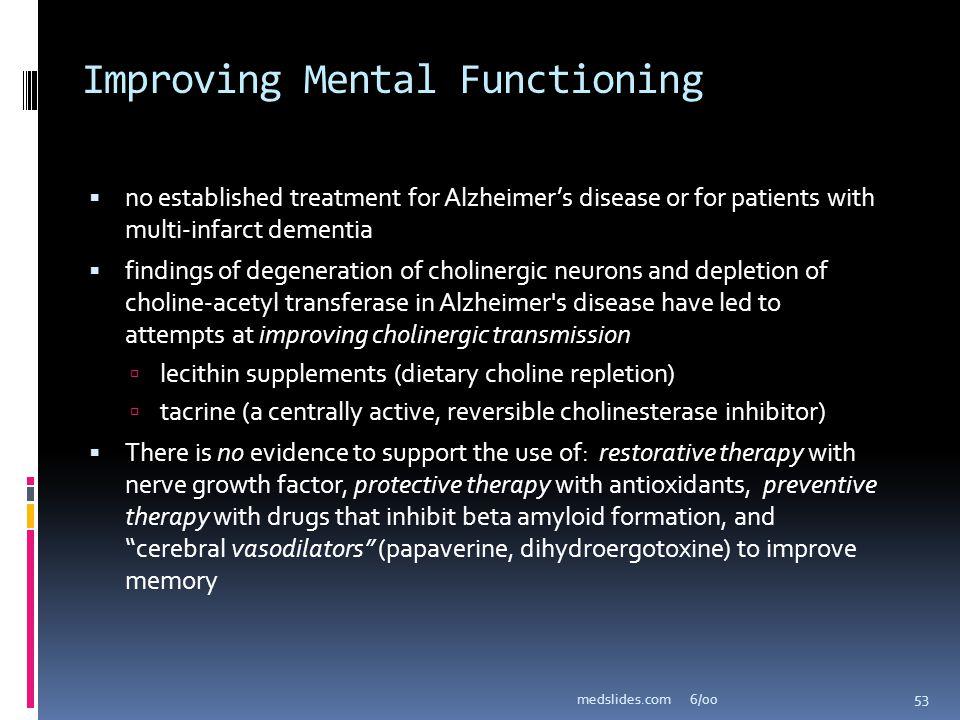 Improving Mental Functioning
