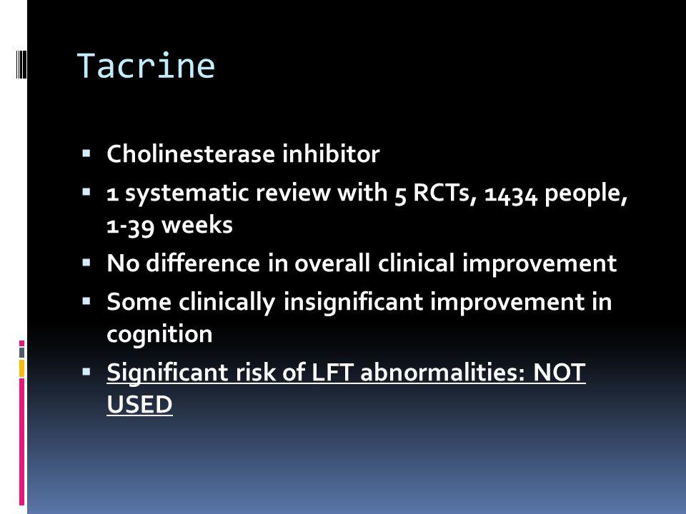 Tacrine Cholinesterase inhibitor