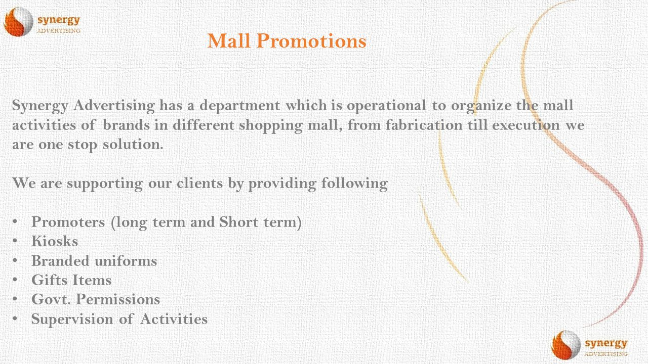 Mall Promotions