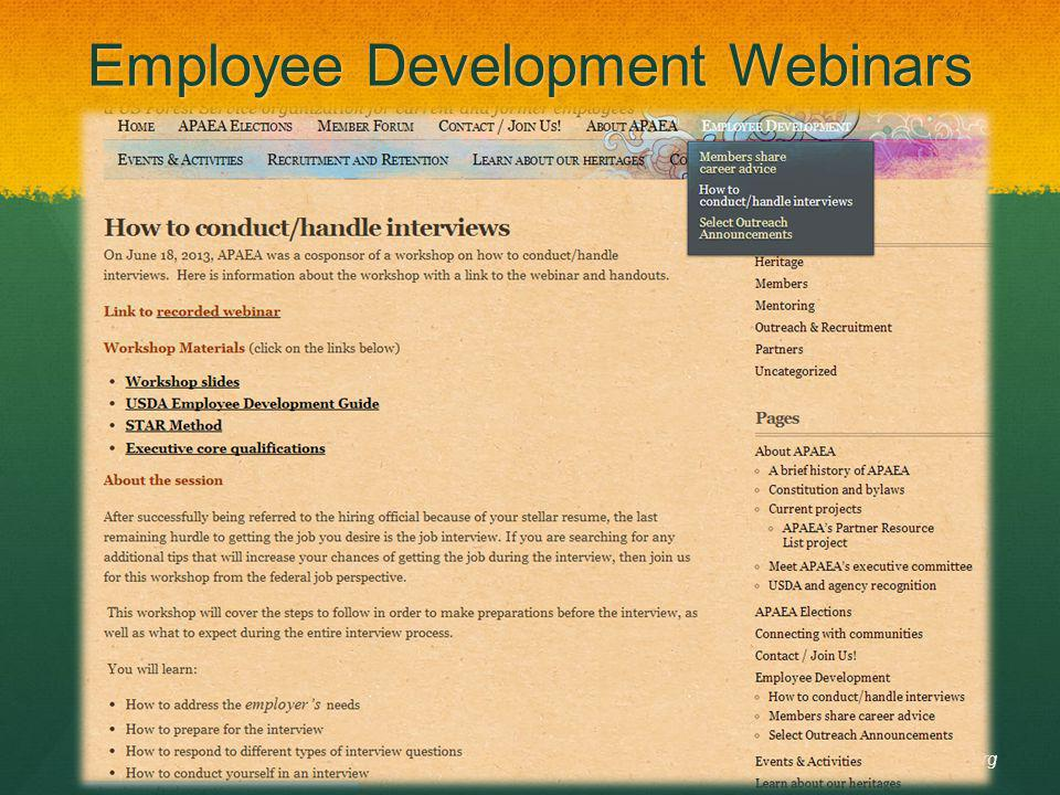 Employee Development Webinars