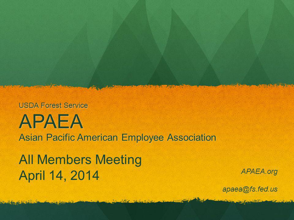 USDA Forest Service Asian Pacific American Employee Association