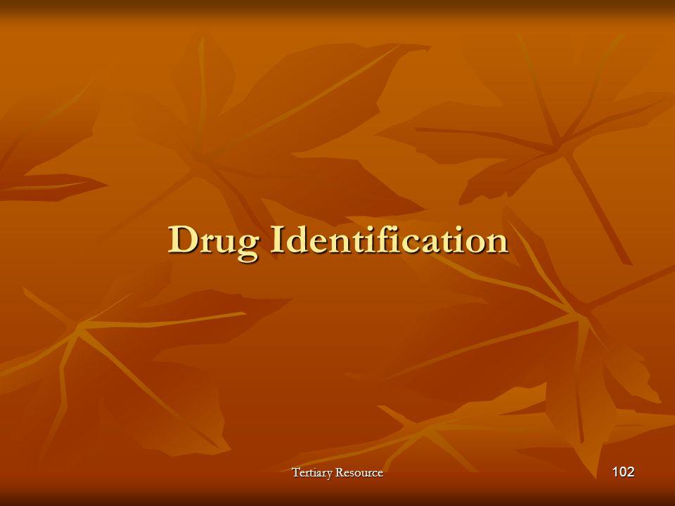 Drug Identification Tertiary Resource
