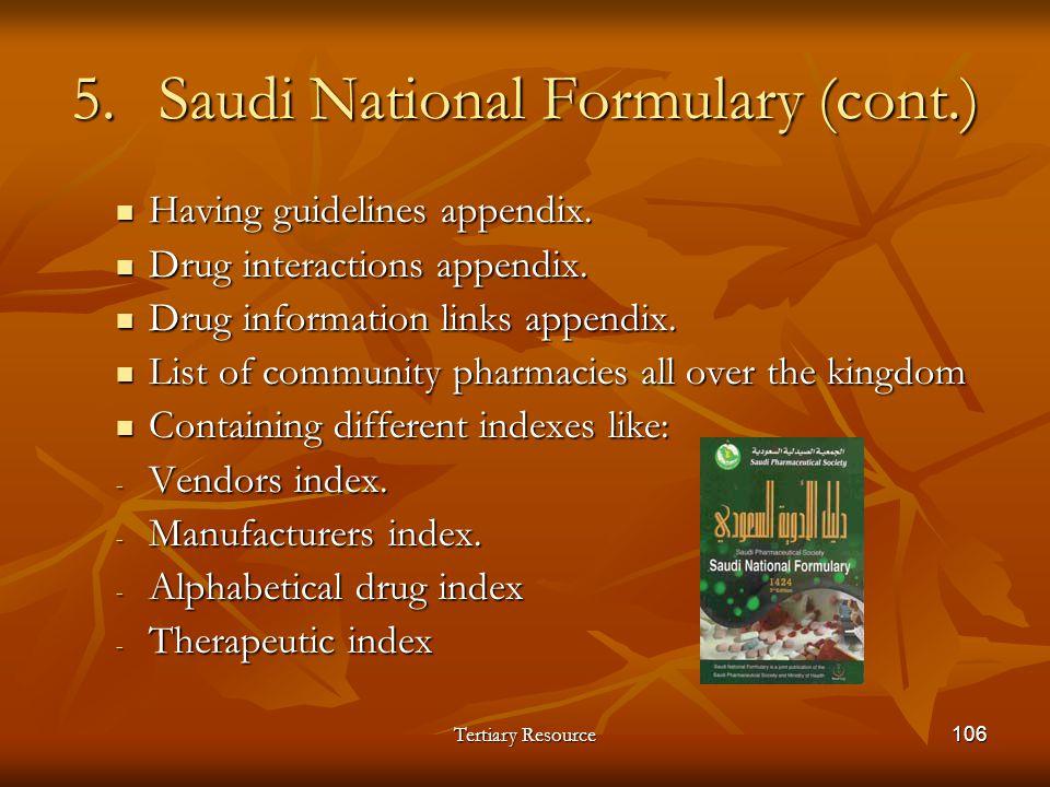 Saudi National Formulary (cont.)