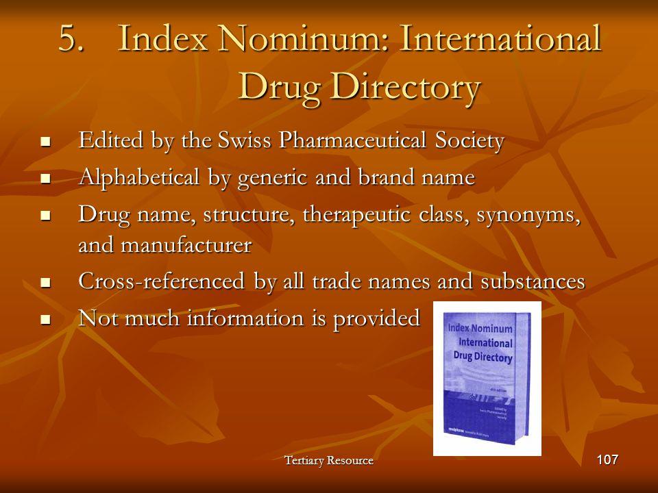 Index Nominum: International Drug Directory