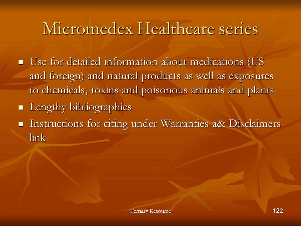 Micromedex Healthcare series
