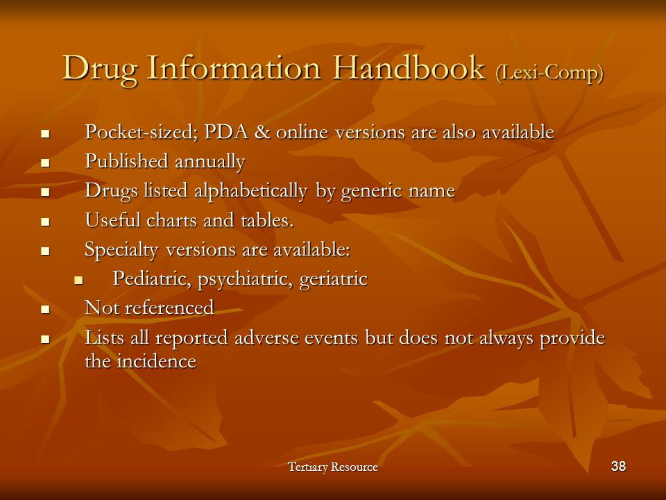 Drug Information Handbook (Lexi-Comp)