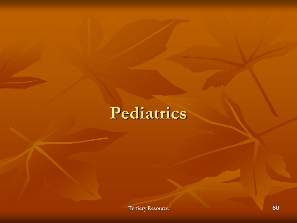 Pediatrics Tertiary Resource