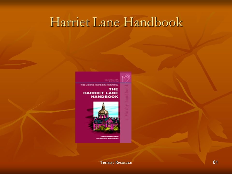 Harriet Lane Handbook Tertiary Resource