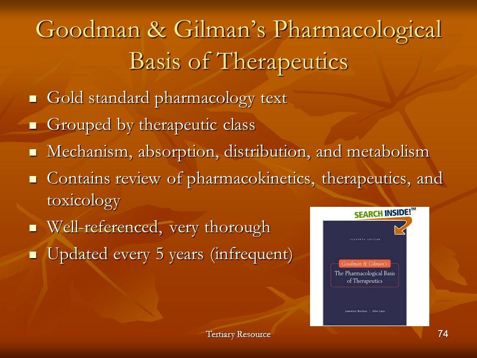 Goodman & Gilman's Pharmacological Basis of Therapeutics