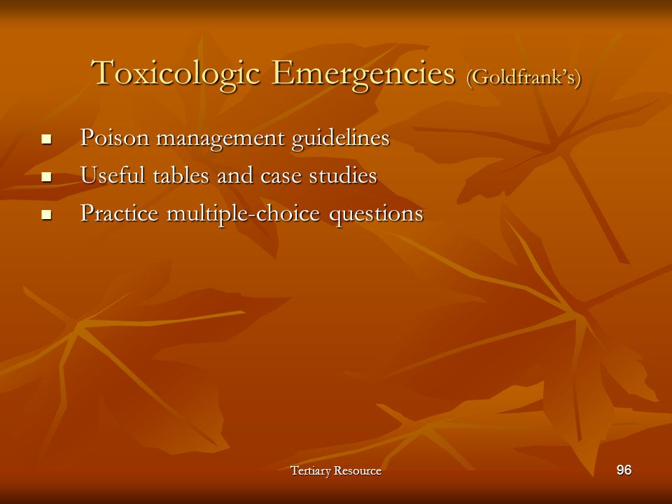 Toxicologic Emergencies (Goldfrank's)
