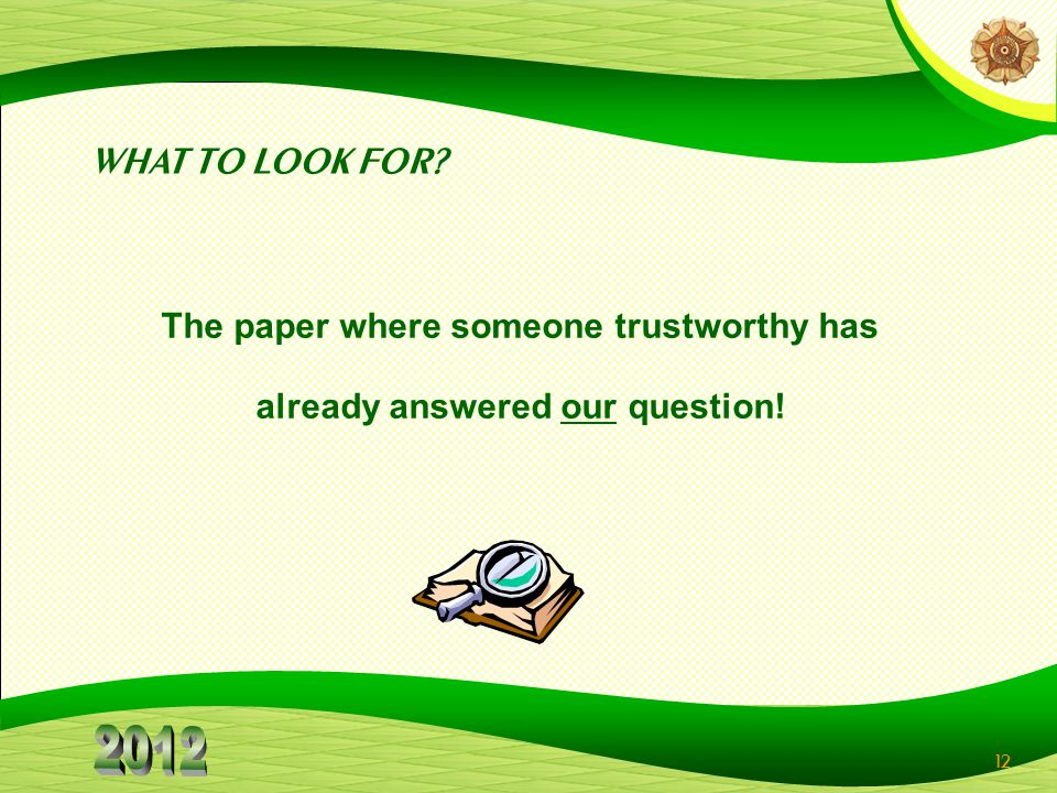 The paper where someone trustworthy has already answered our question!