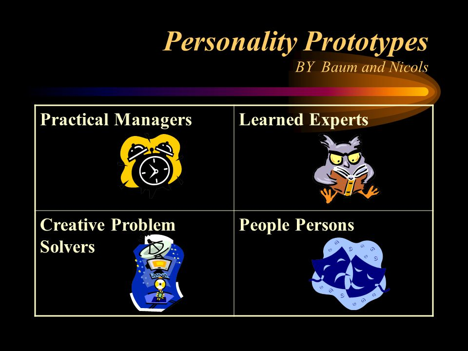 Personality Prototypes BY Baum and Nicols