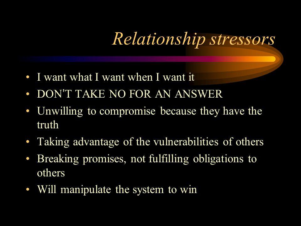 Relationship stressors