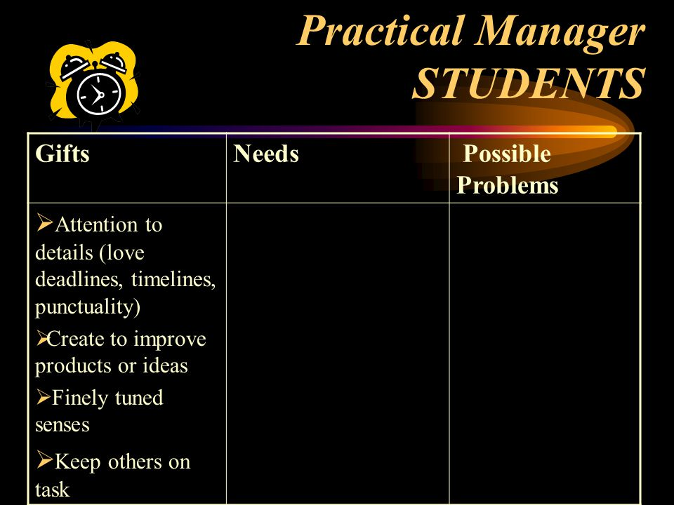 Practical Manager STUDENTS