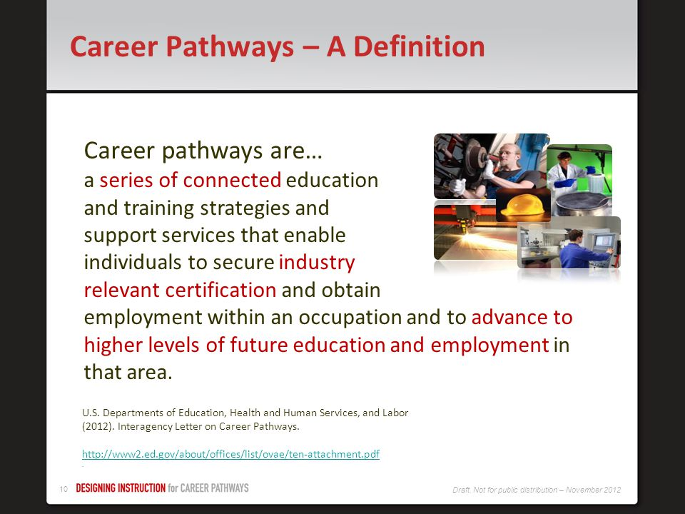 Career Pathways – A Definition