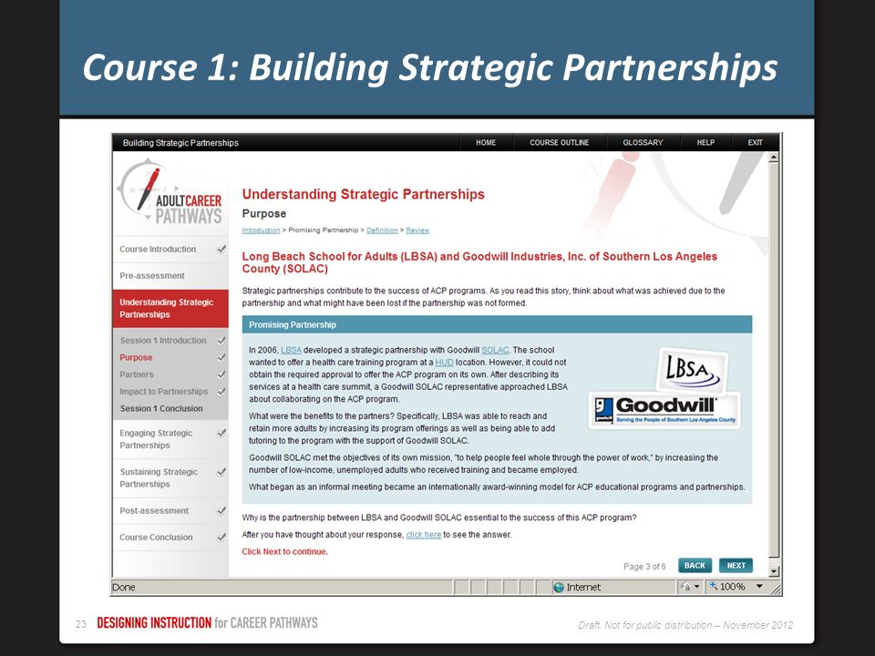 Course 1: Building Strategic Partnerships