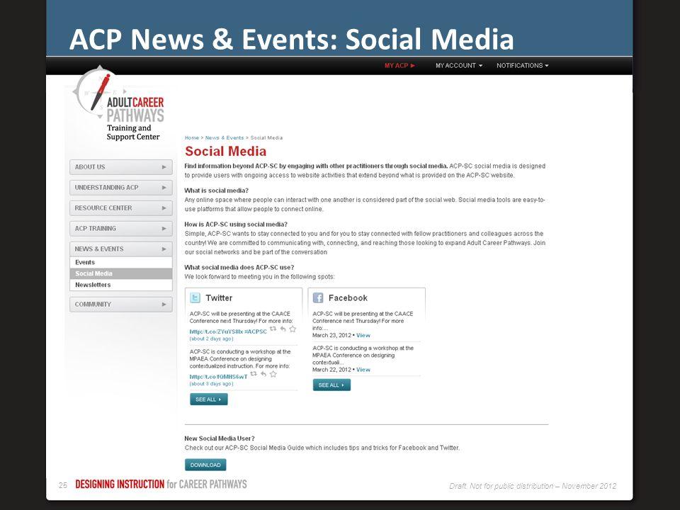 ACP News & Events: Social Media