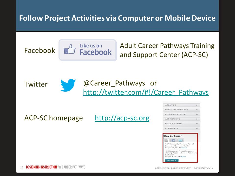 Follow Project Activities via Computer or Mobile Device