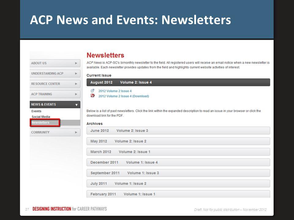 ACP News and Events: Newsletters