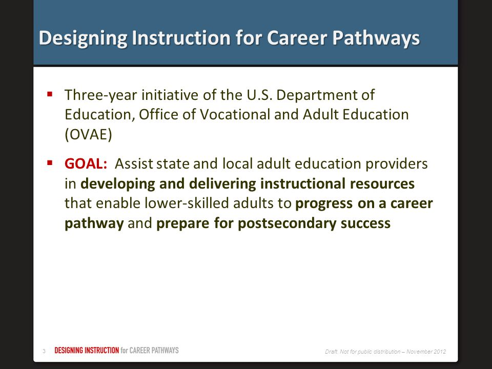 Designing Instruction for Career Pathways