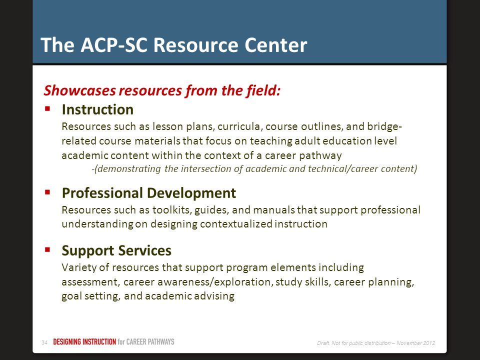 The ACP-SC Resource Center