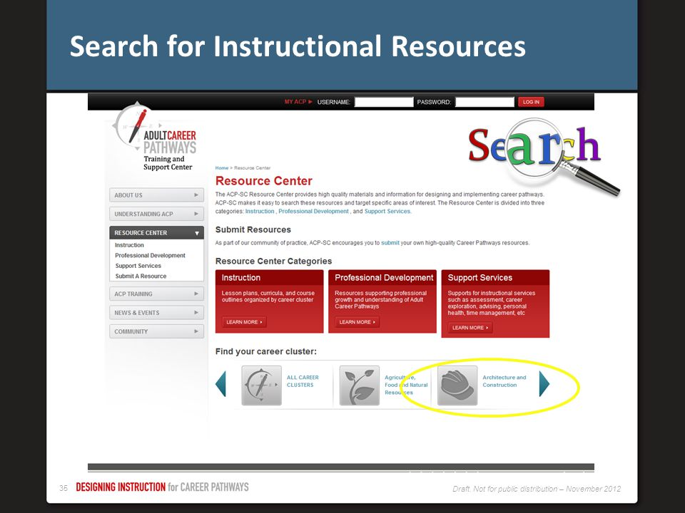 Search for Instructional Resources