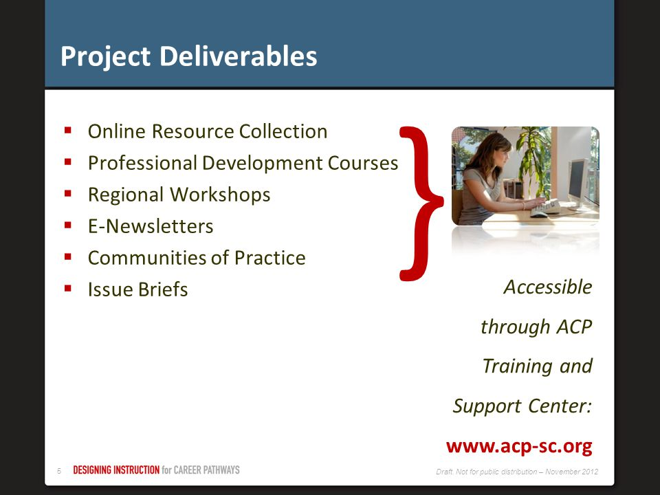 } Project Deliverables Online Resource Collection
