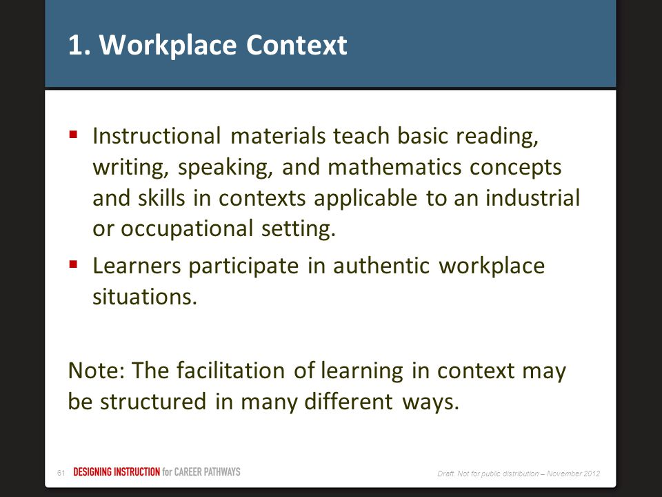 1. Workplace Context