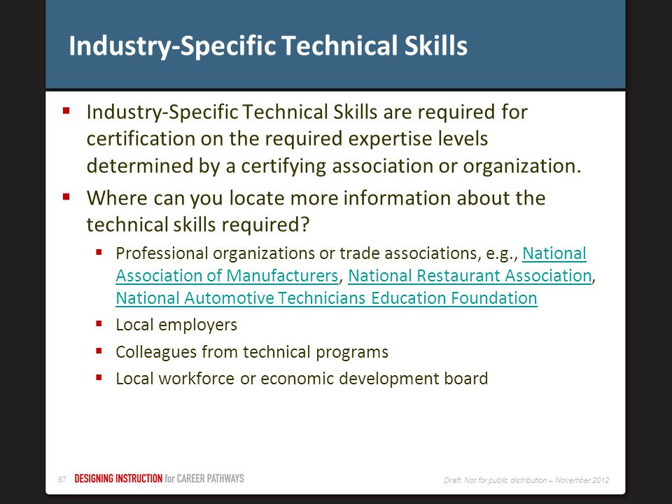 Industry-Specific Technical Skills
