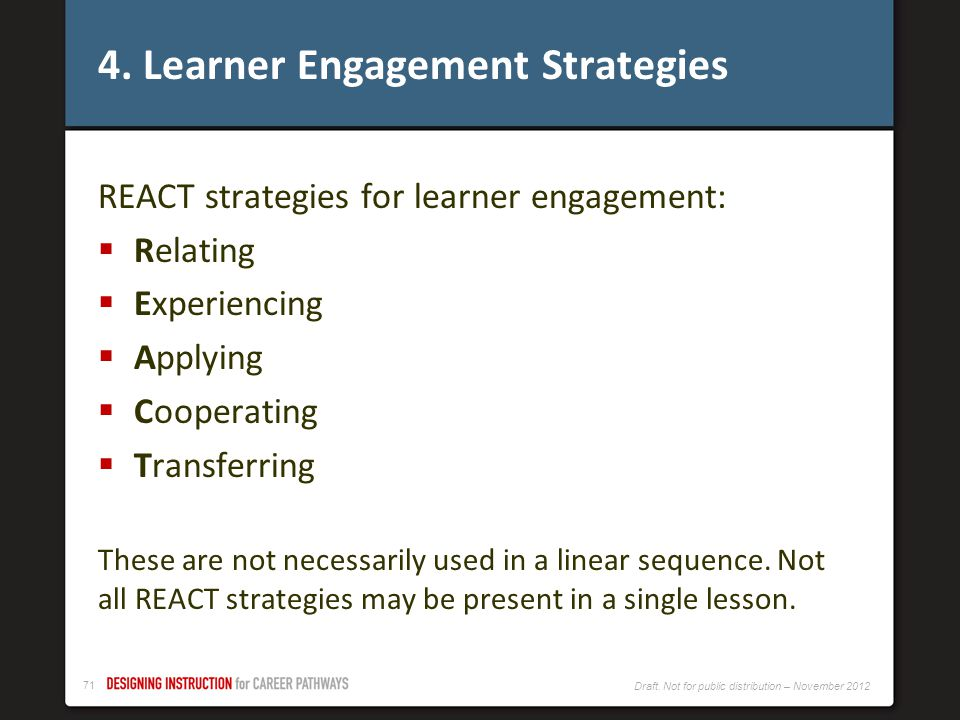 4. Learner Engagement Strategies