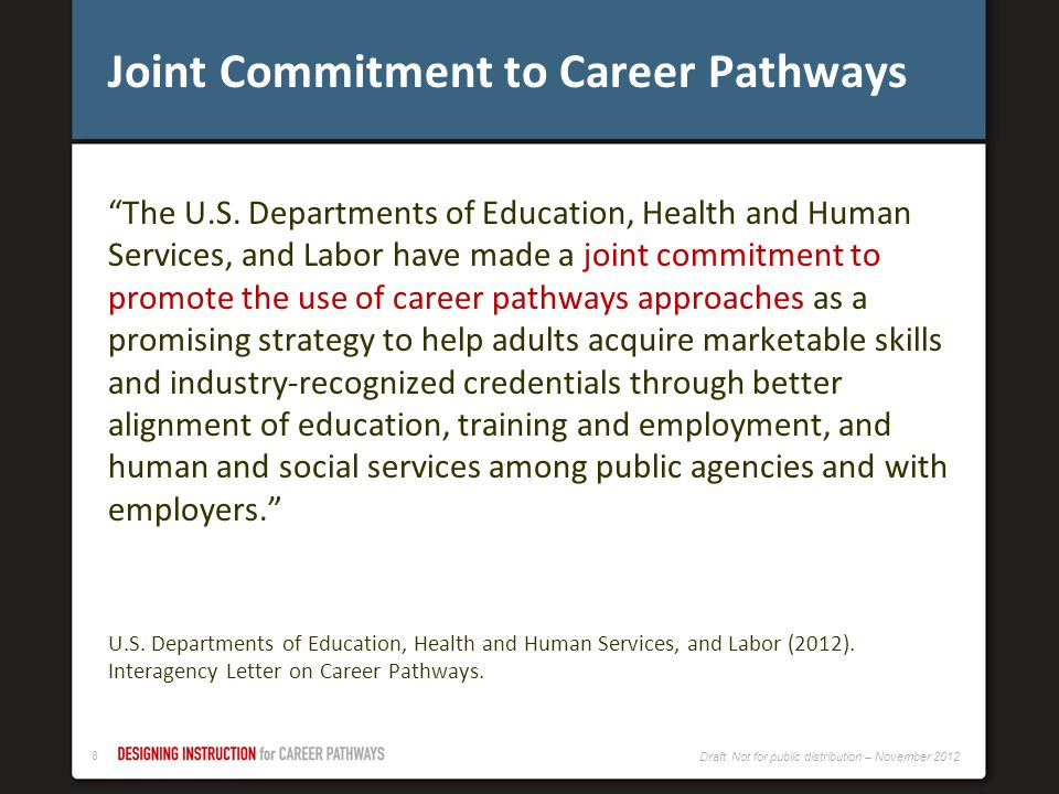 Joint Commitment to Career Pathways