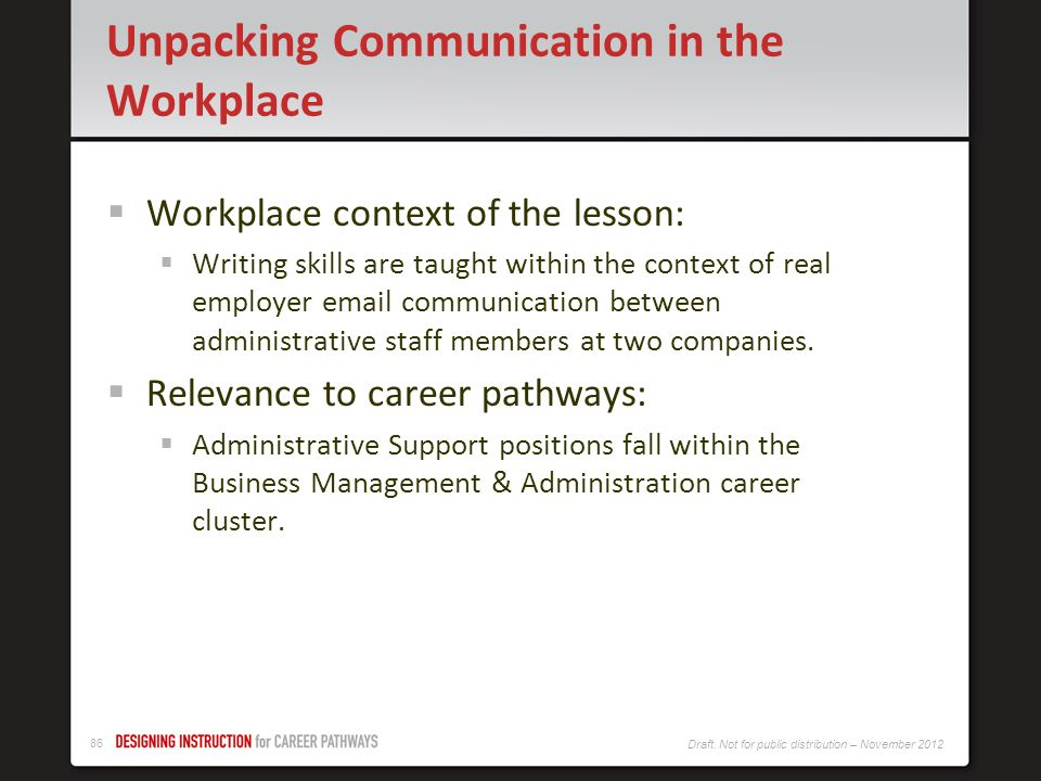 Unpacking Communication in the Workplace