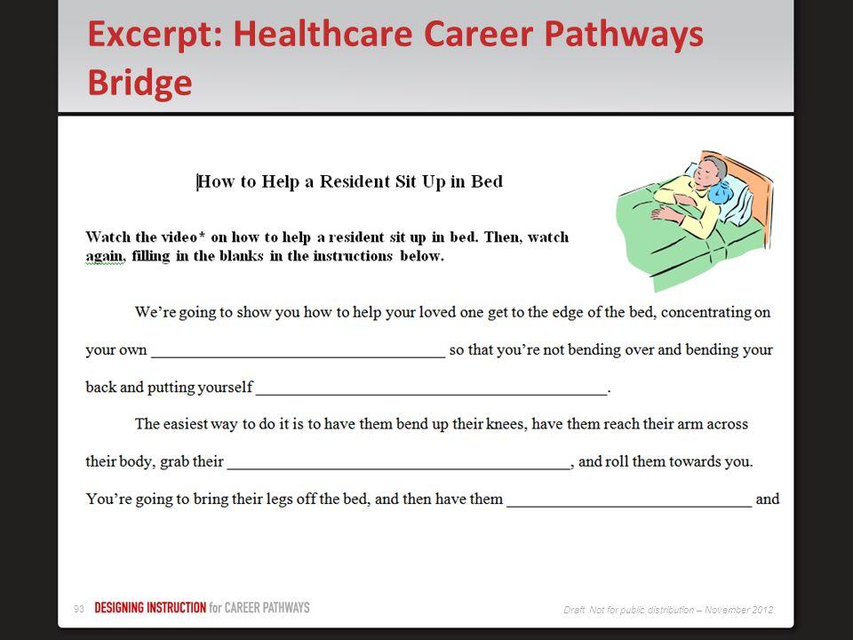 Excerpt: Healthcare Career Pathways Bridge