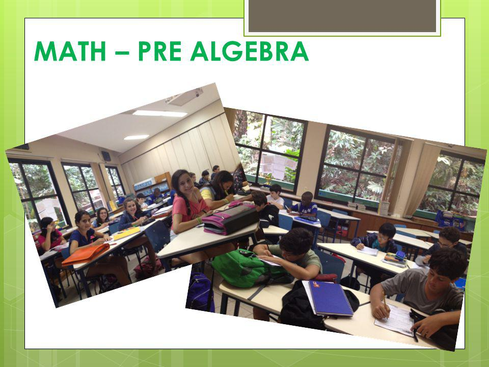 MATH – PRE ALGEBRA