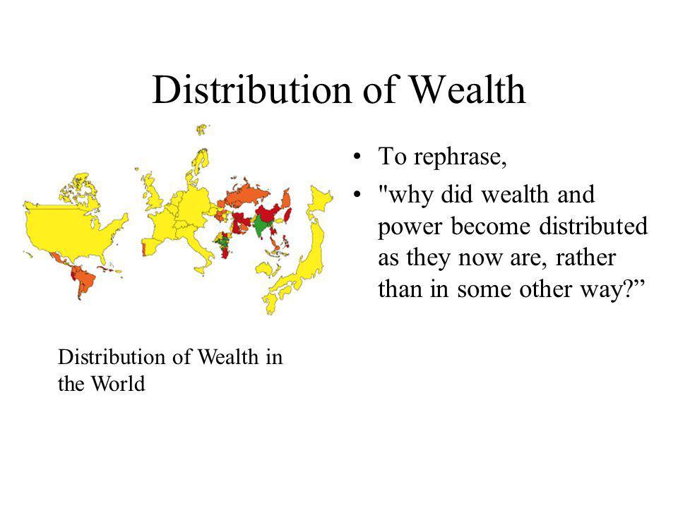 Distribution of Wealth