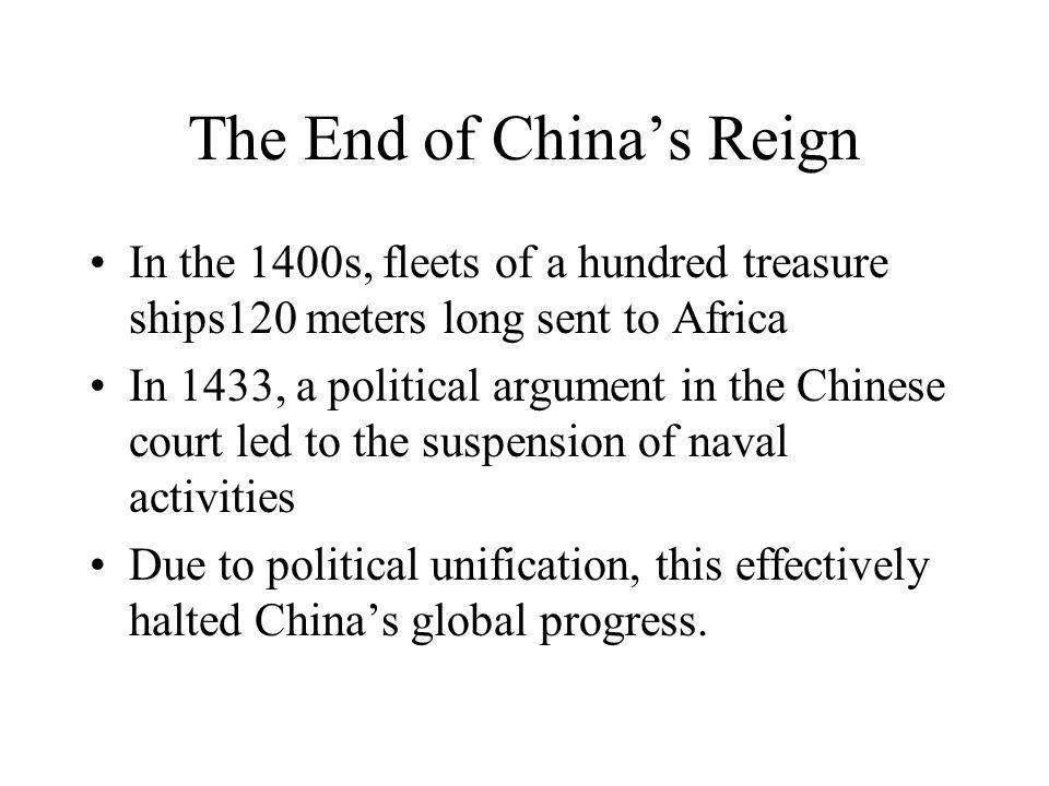 The End of China's Reign