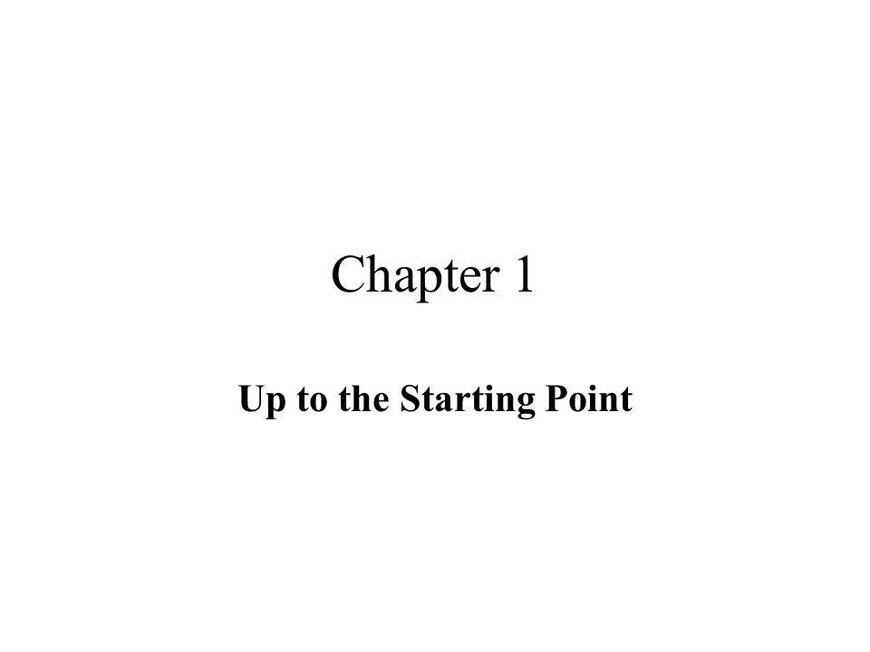 Up to the Starting Point