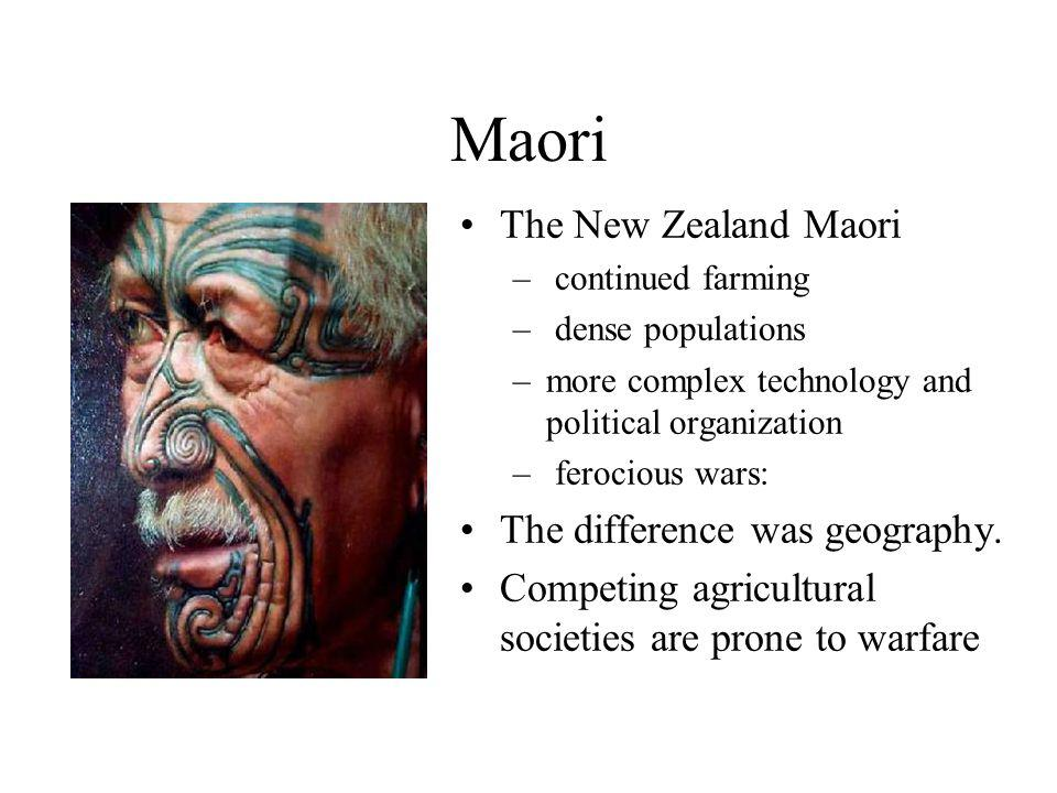 Maori The New Zealand Maori The difference was geography.