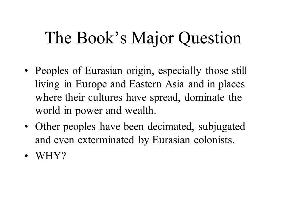 The Book's Major Question