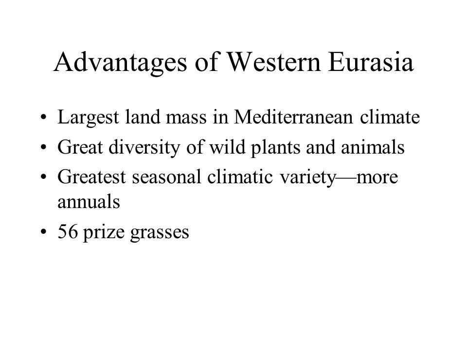 Advantages of Western Eurasia