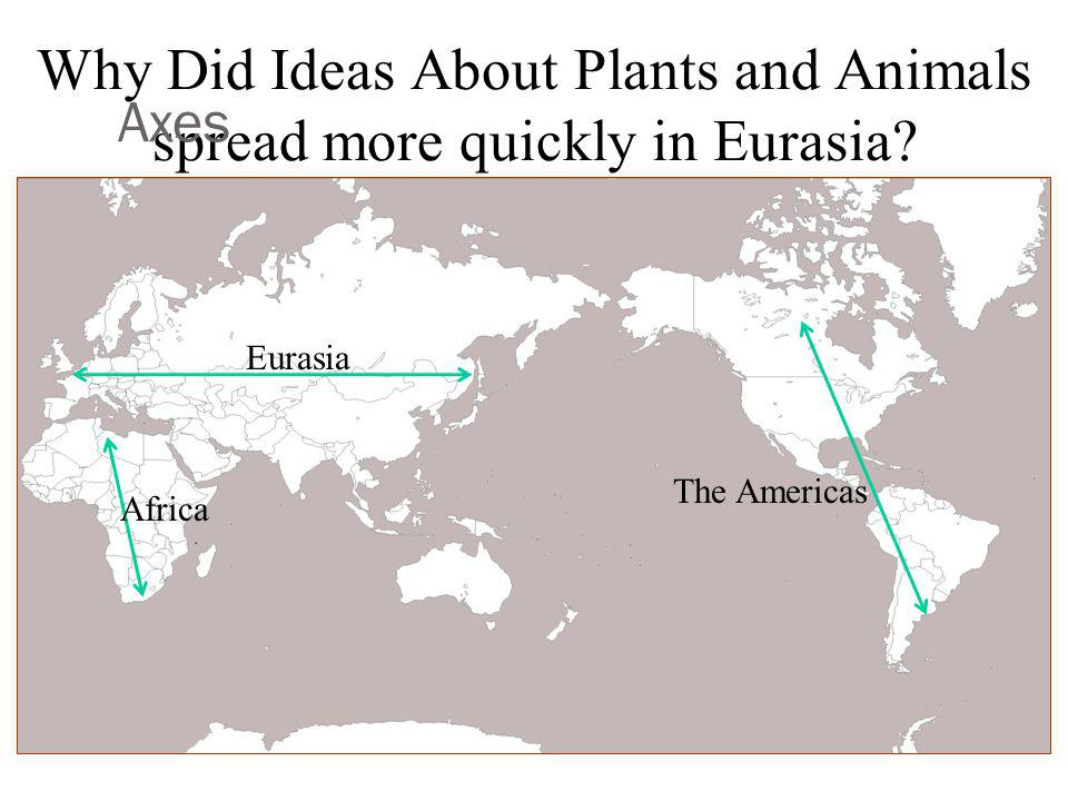Why Did Ideas About Plants and Animals spread more quickly in Eurasia