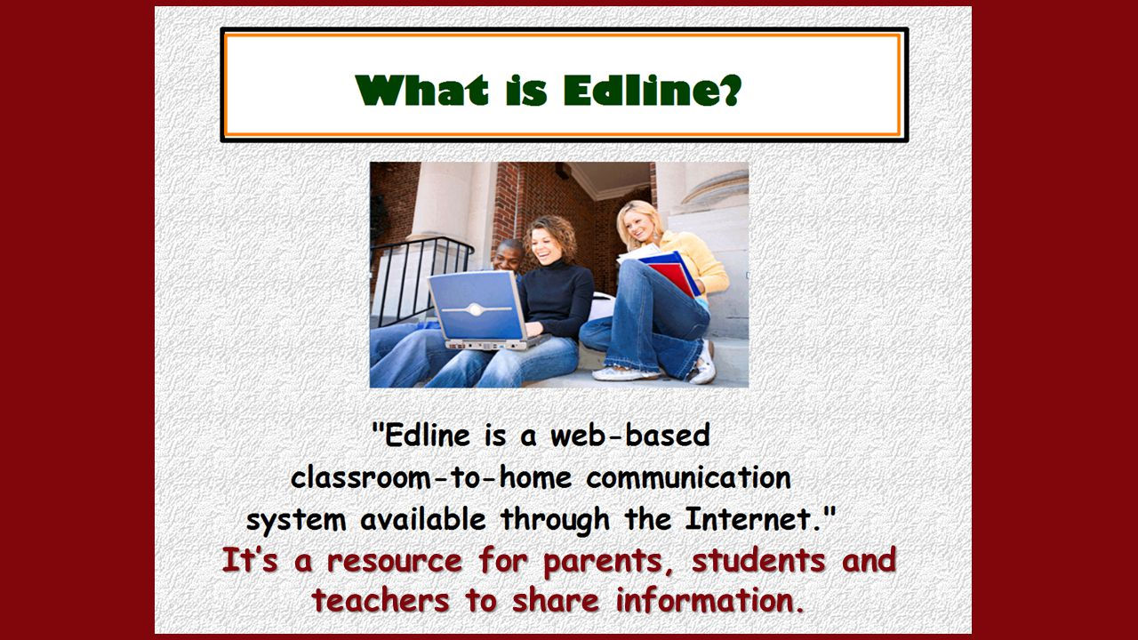 It's a resource for parents, students and teachers to share information.