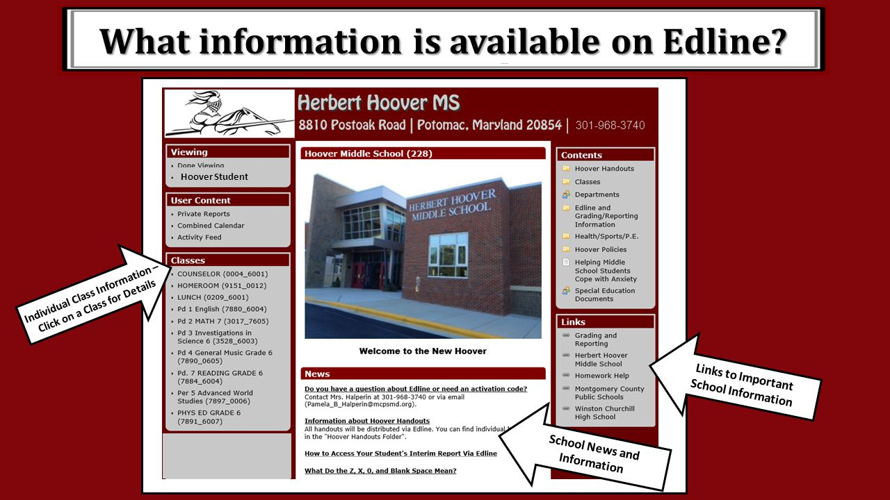 What information is available on Edline