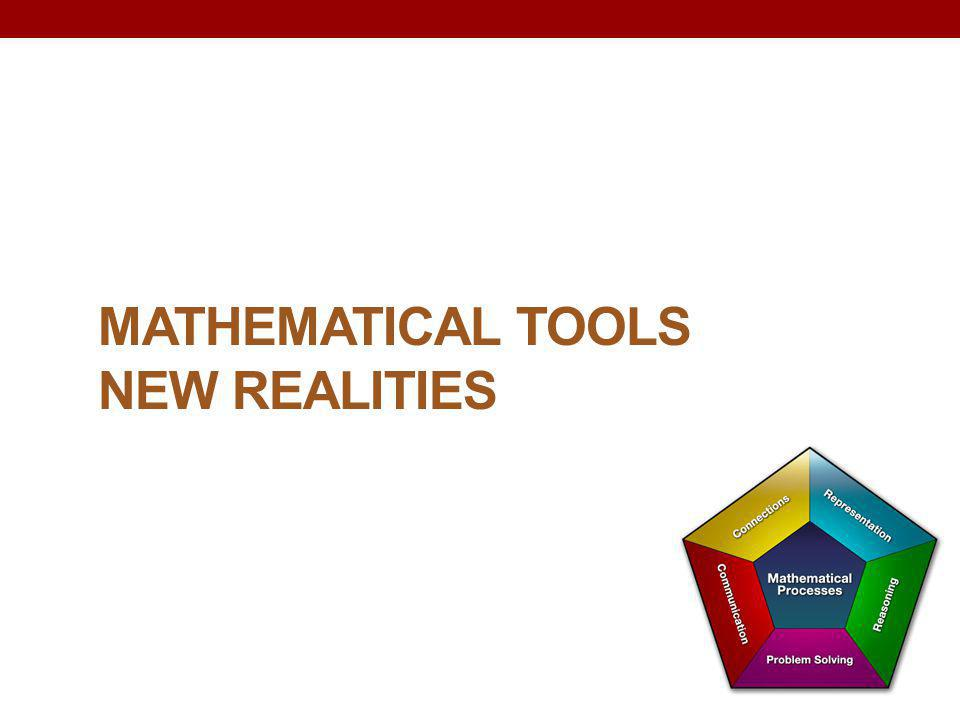 Mathematical Tools New Realities