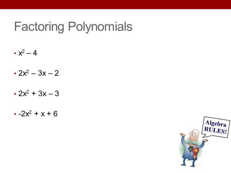 Factoring Polynomials