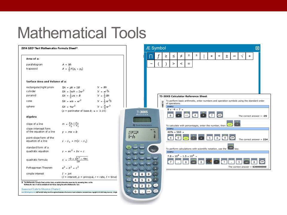 Mathematical Tools Key Points