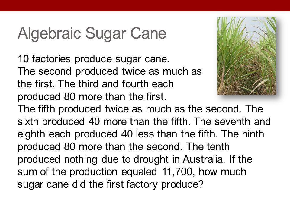 Algebraic Sugar Cane
