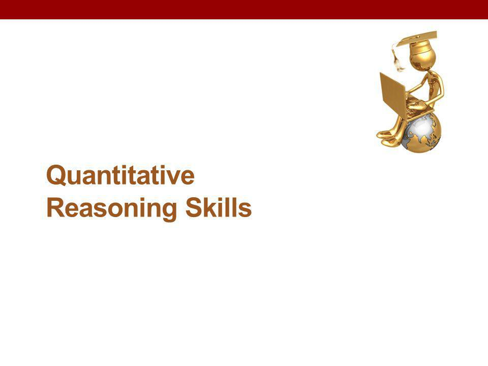 Quantitative Reasoning Skills
