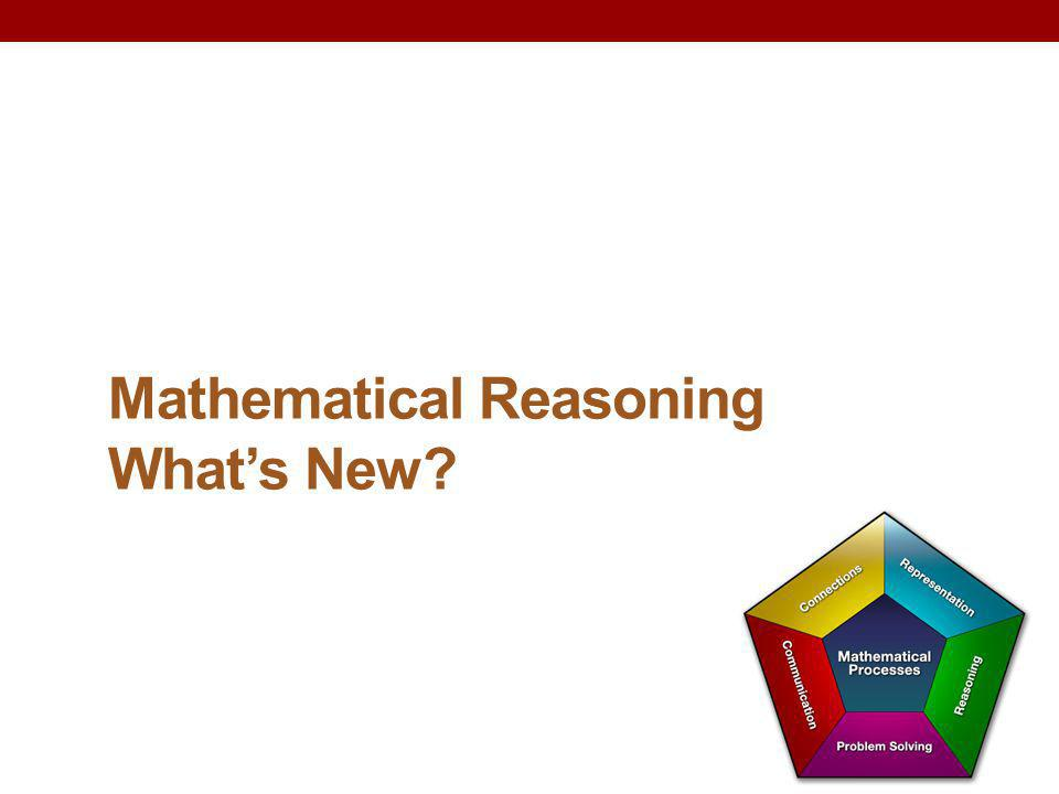 Mathematical Reasoning What's New