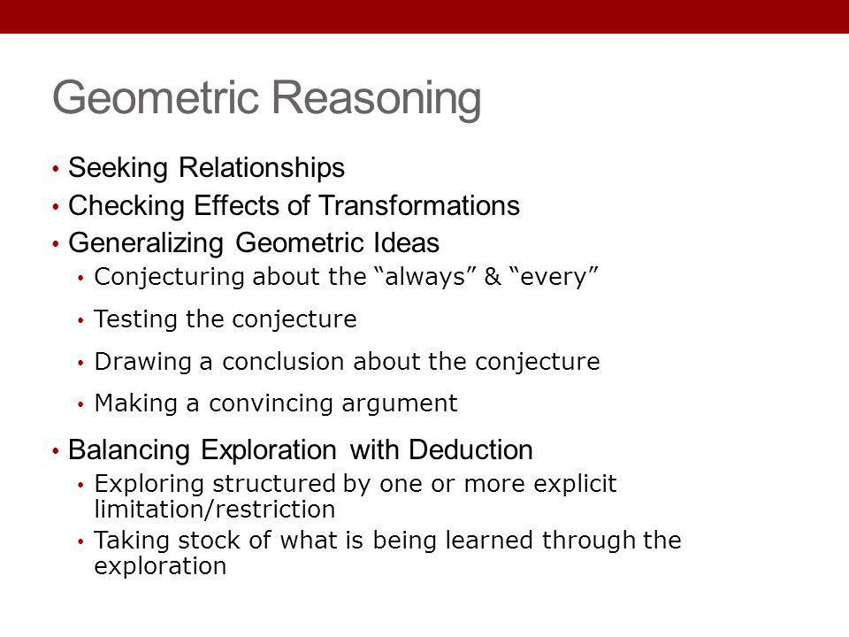 Geometric Reasoning Seeking Relationships